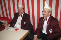 Heinz und Dietmar hueten die Kasse